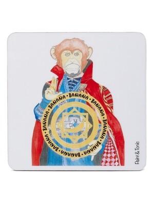 Monkey Strange Coasters-Set of 4