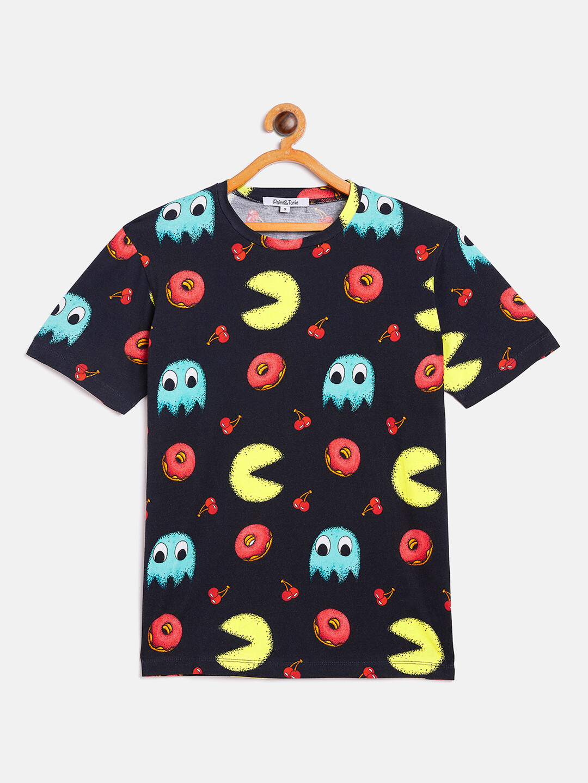 Unisex Pacman Print T-Shirt