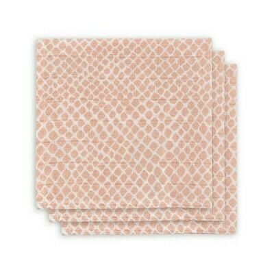 Monddoekje hydrofiel Snake Pale pink (3-pack)