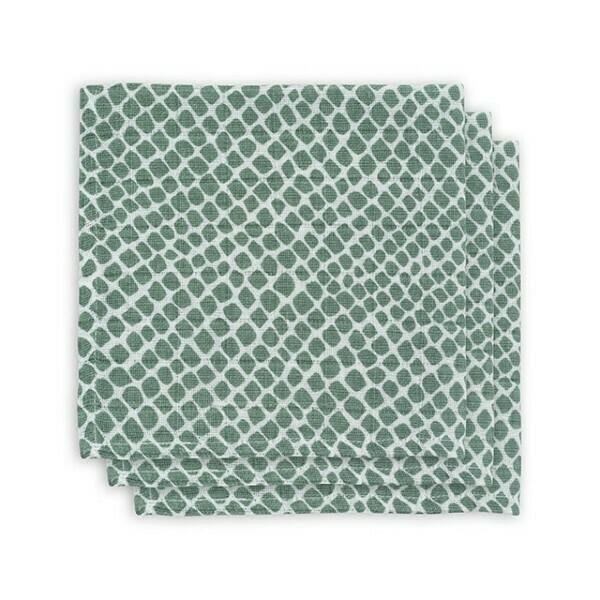 Monddoekje  Hydrofiel Snake Soft green