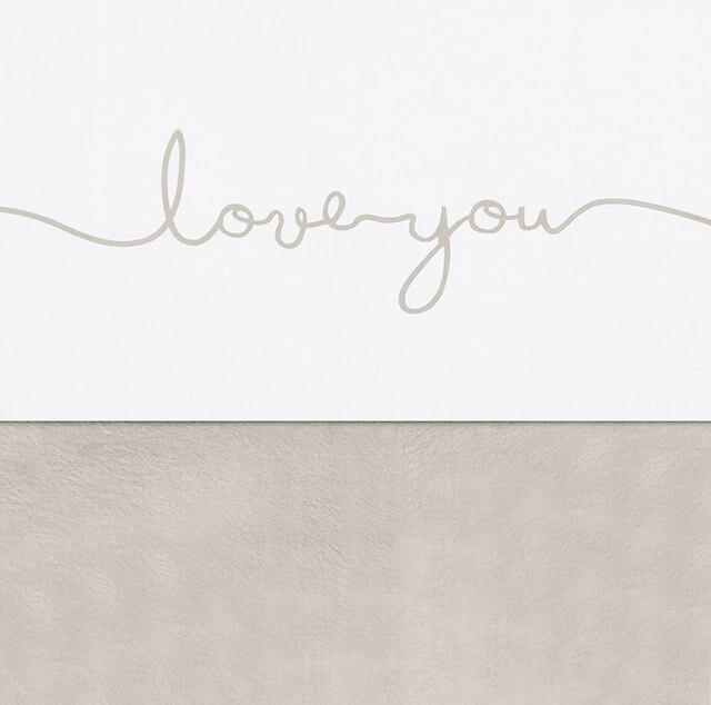 Laken  75x100cm Love you -Nougat