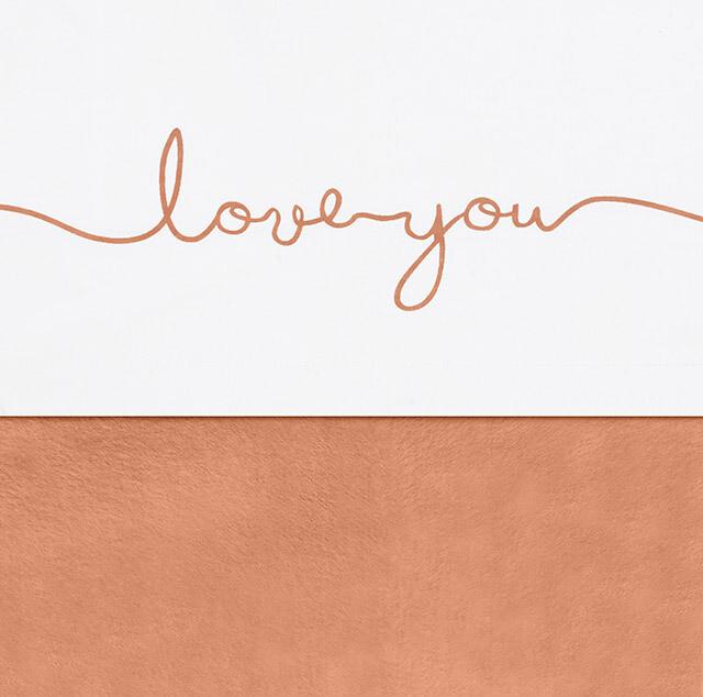 Laken 75x100cm Love you - Caramel
