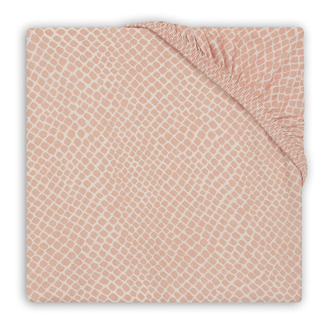 Hoeslaken Jersey 60x120cm Snake Pale Pink
