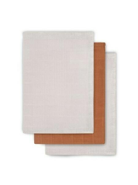 3 hydrofiele washandjes - Bamboo Cotton Caramel