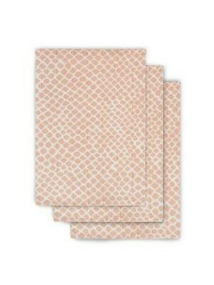 3 hydrofiele washandjes - Snake Pale Pink