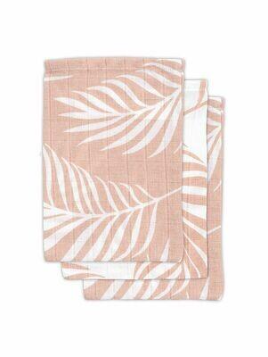 3 hydrofiele washandjes - Nature Pale pink