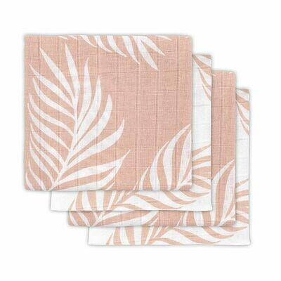 4 Hydrofiele multidoeken Nature Pale Pink  70x70cm