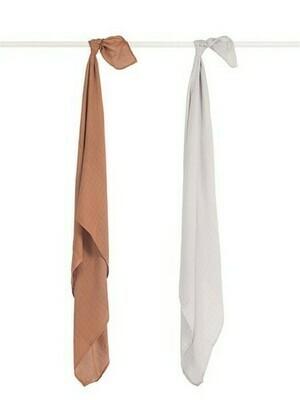 2 Hydrofiele multidoeken 115x115cm - Bamboo Cotton Caramel