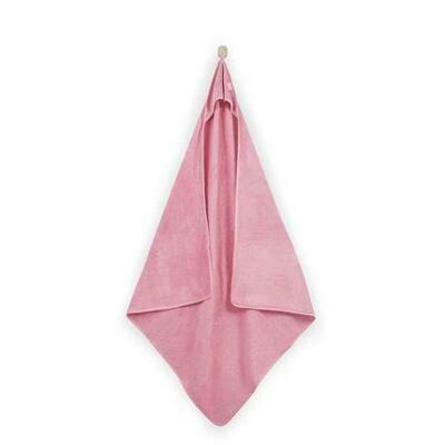 XL Badcape 100x100cm Velvet Blush Pink