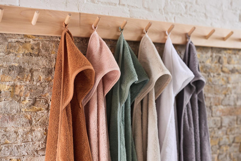 Badcape in  badstof verschillende kleuren.