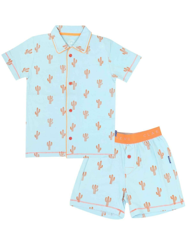 Boys Pyjama Set Cactus Blauw & Oranje