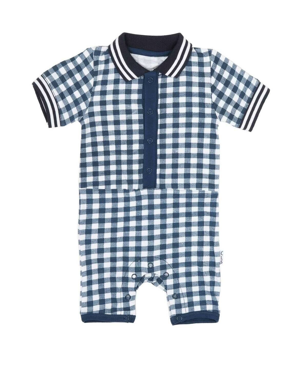 Baby Boys suit Navy Checks