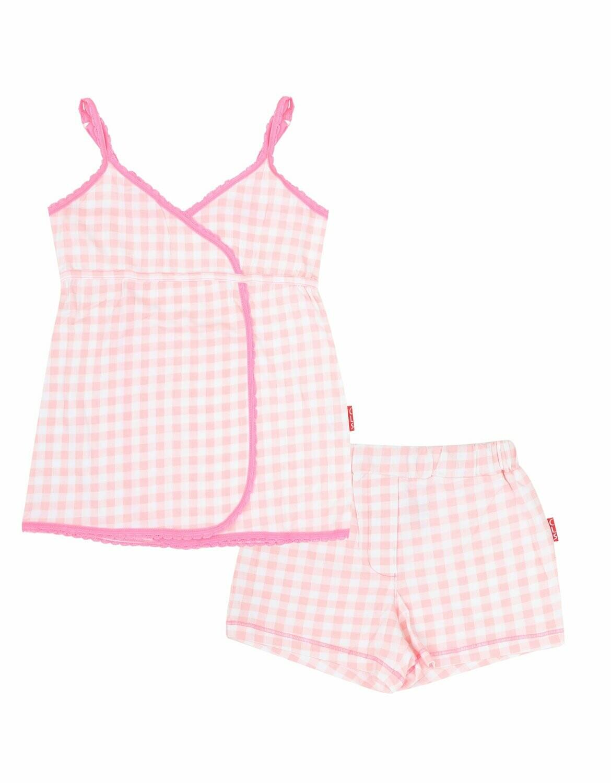Girls Baby Doll Pink checks