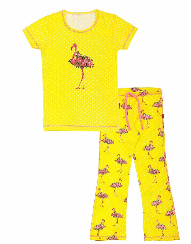 Girls Pyjama set Flamingo