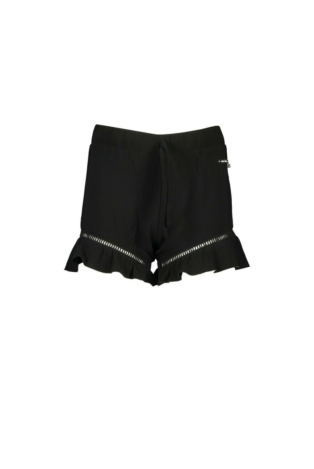 Elle Chic Shortje With Ruflles Black