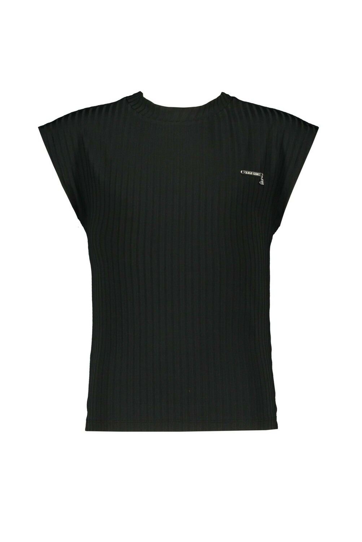 Elle Chic T-Shirt Black Stretch