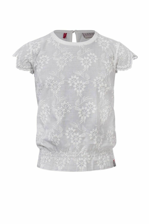 Looxs T-shirt White Flowers