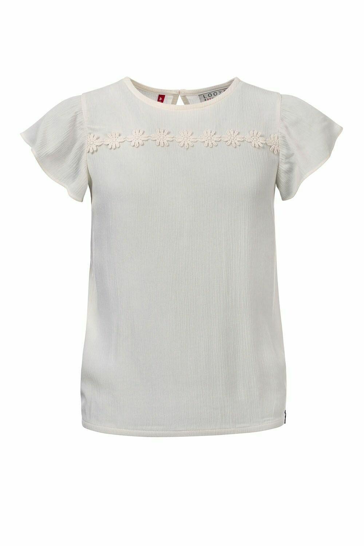 Looxs T-shirt Créme met Bloemen