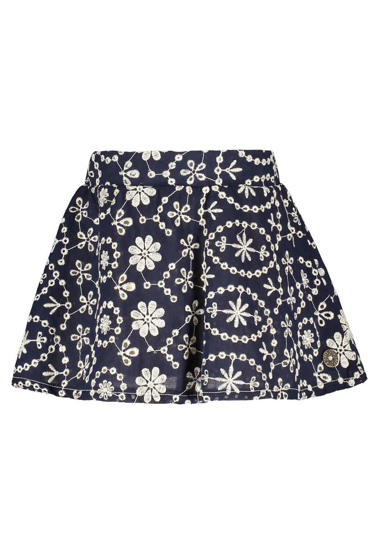 Flo Skirt Blue wit White Flowers