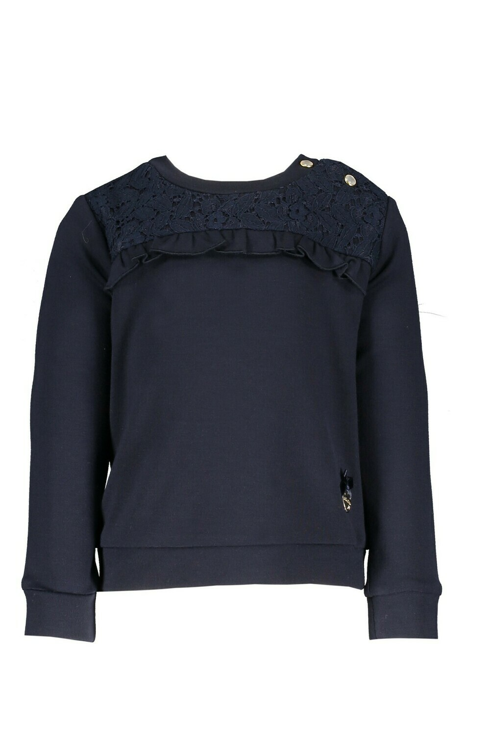 Le Chic Trui donkerblauw met kant