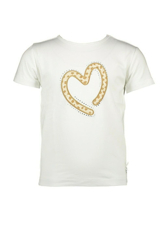 Le Chic T-shirt Hartje Beige Panterprint