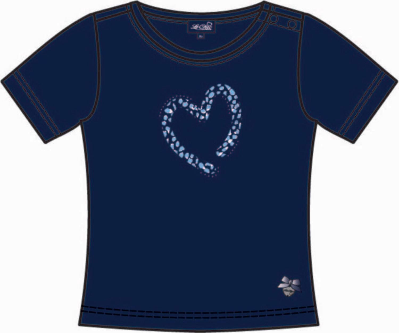 Le Chic T-shirt Blauw hart panterprint