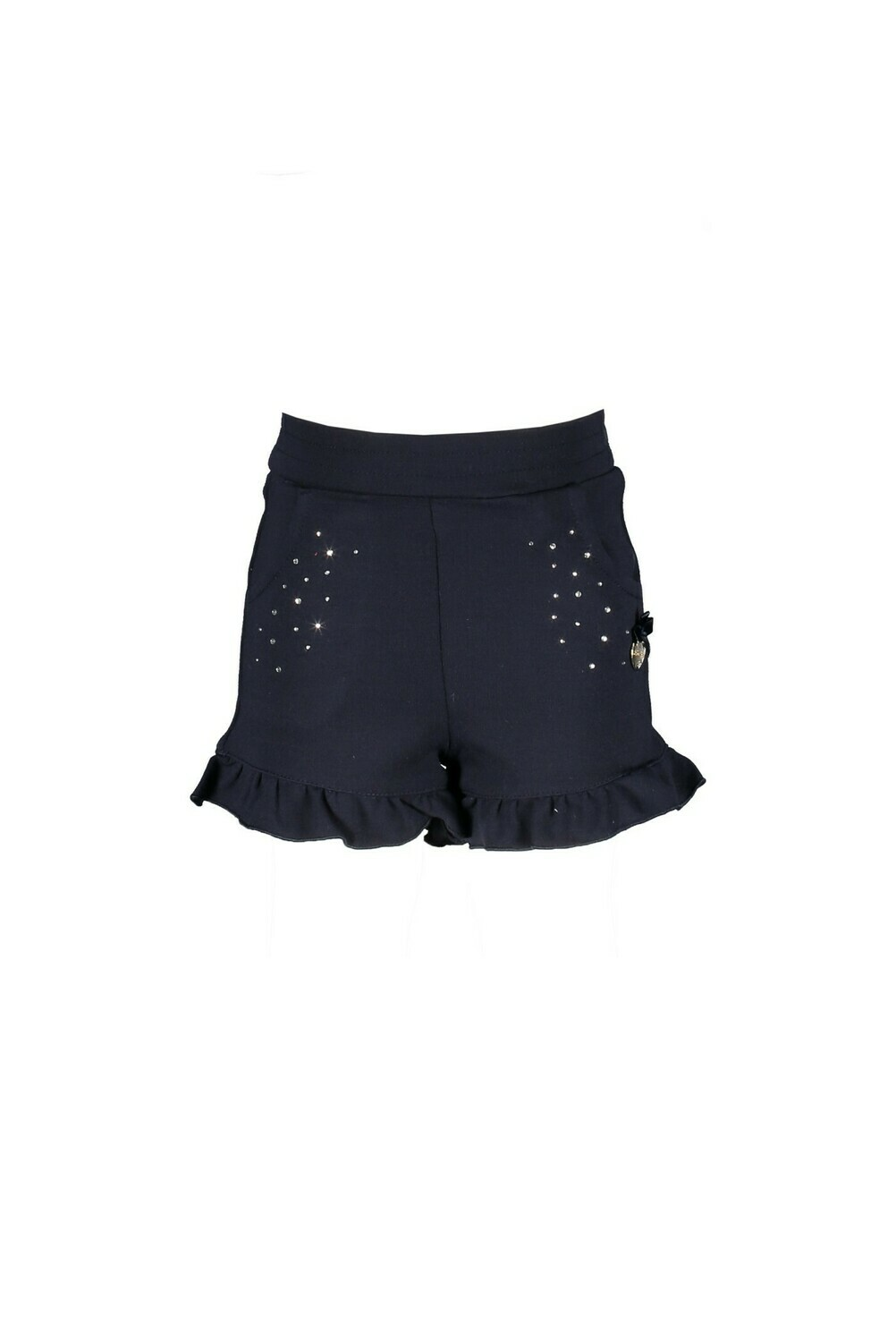 Le Chic Shortje Donkerblauw Met Glitters