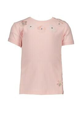 Le Chic T-shirt Roze met bloemetjes