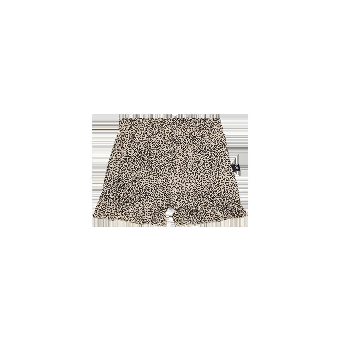 Ruffled Shorts Charcoal Little Leopard
