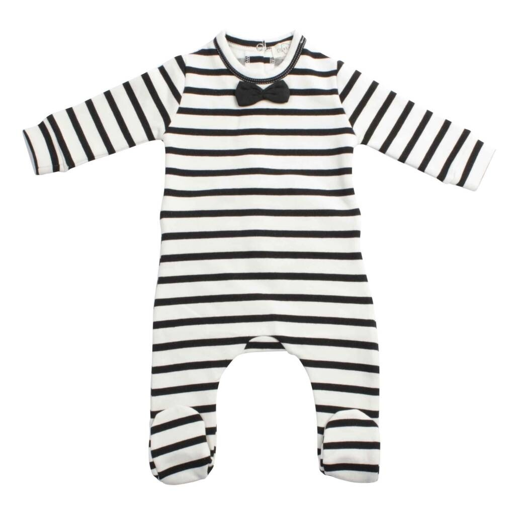 Bow Tie Babysuit Breton