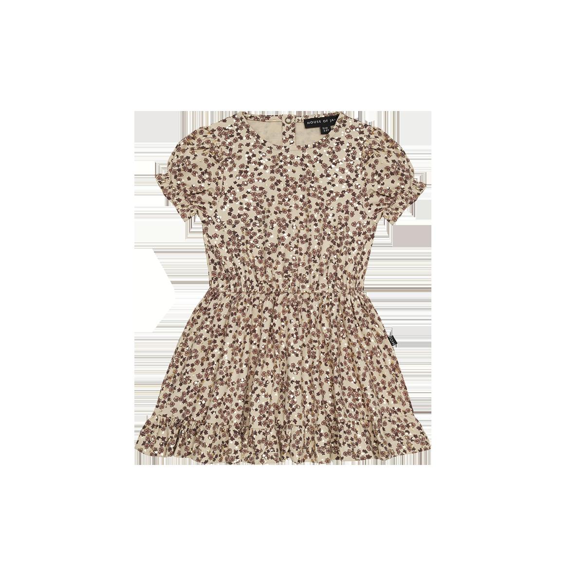 Frill Dress Golden Rosé Dawn Blossom