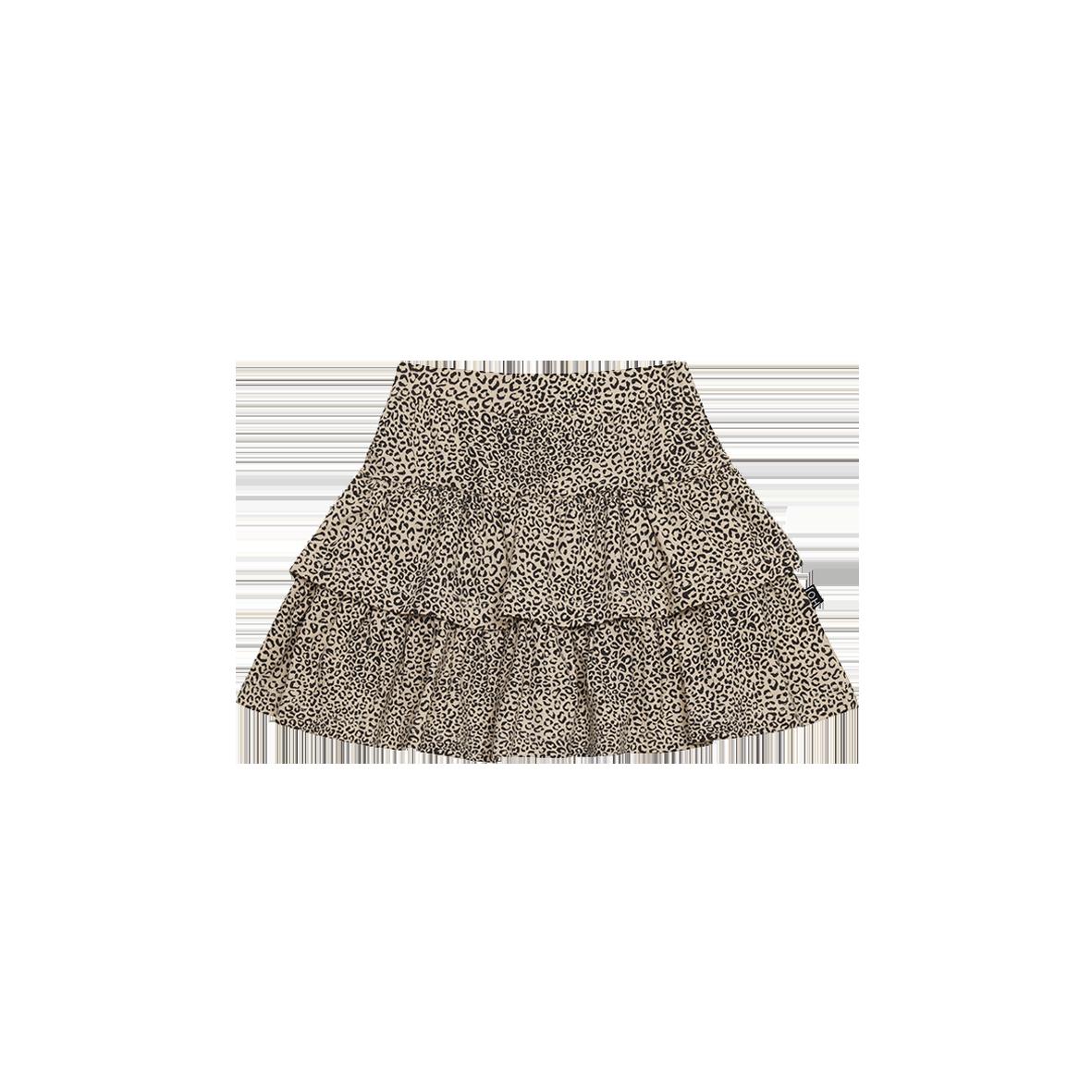 Ruffled Skirt HOJ Charcoal Little Leopard