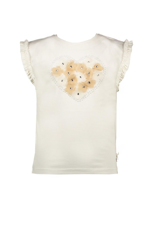 Le Chic T-shirt white flowers