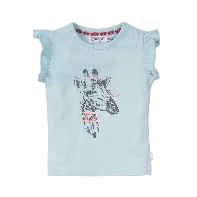 DIRKJE T-shirt giraf blue