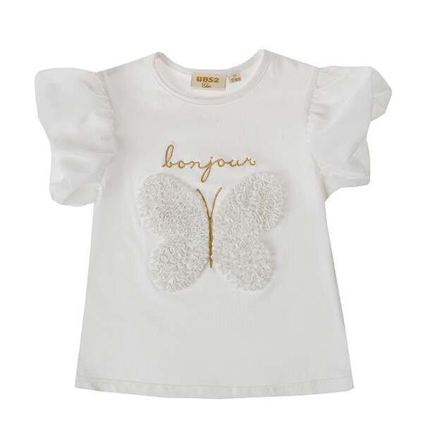UBS2 T-SHIRT WHITE BUTTERFLY