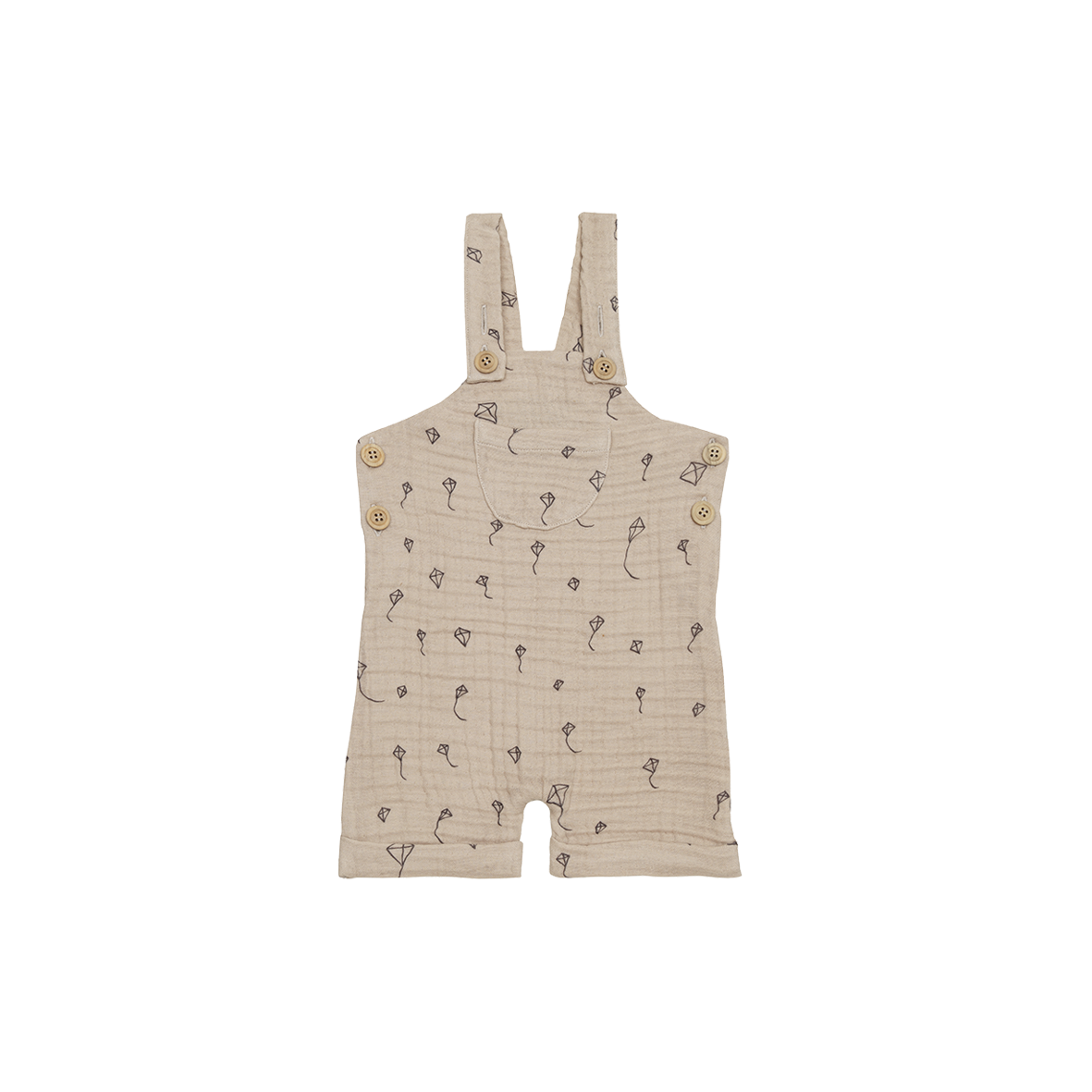 Relaxed Dungaree Oatmeal Kites