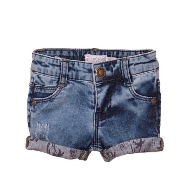 Dirkje jeansshort Palmtree