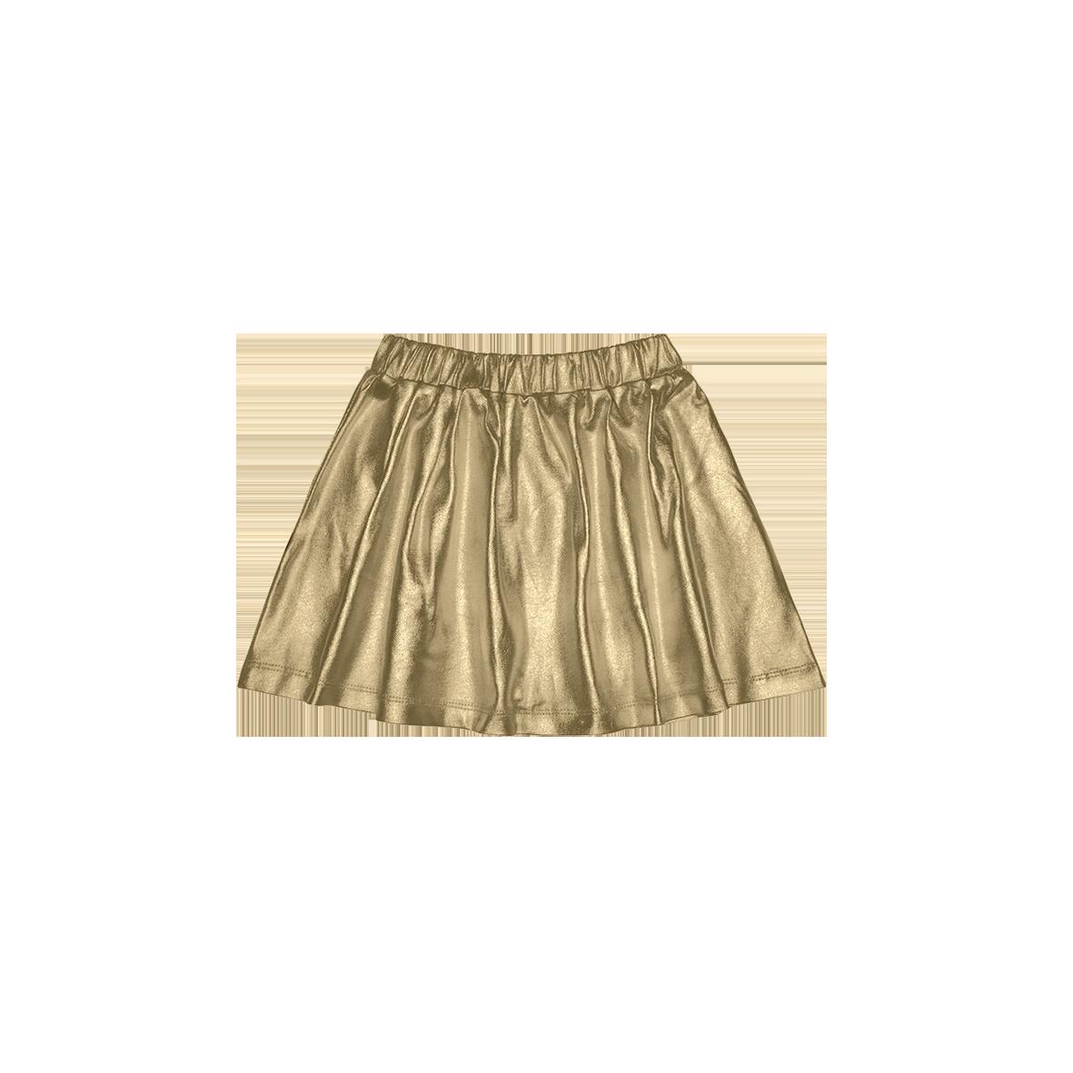 Metallic Skirt Gold