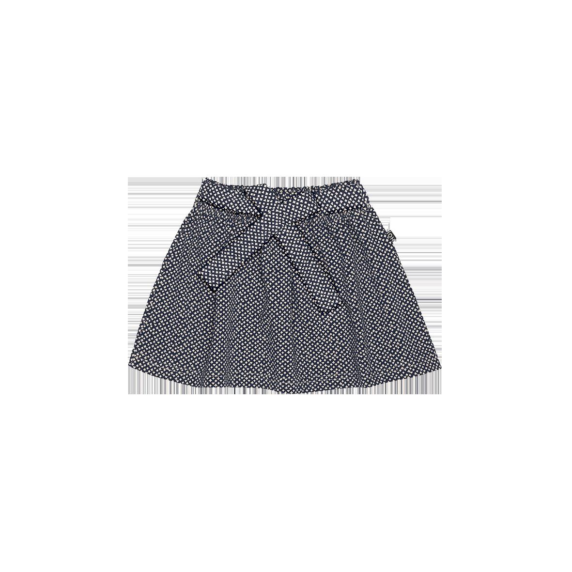 Mini Bow Skirt Vintage Blue