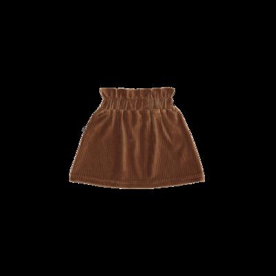 Paperbag Skirt ginger bread Rib velvet