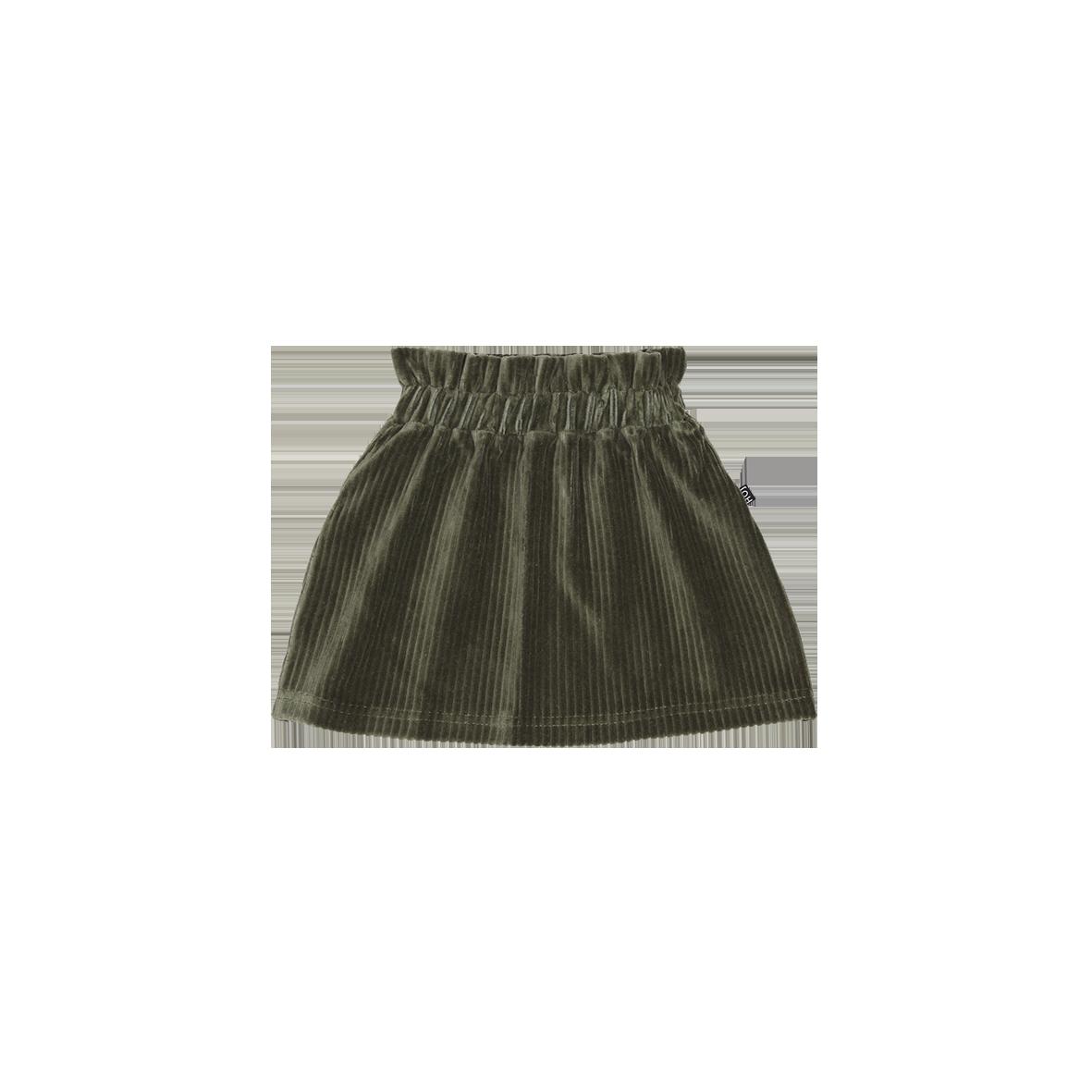 Paperbag Skirt Moss Rib Velvet