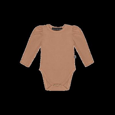 Puff Shoulder Bodysuit Terra Blush