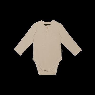 Wrap Button Bodysuit Oatmeal