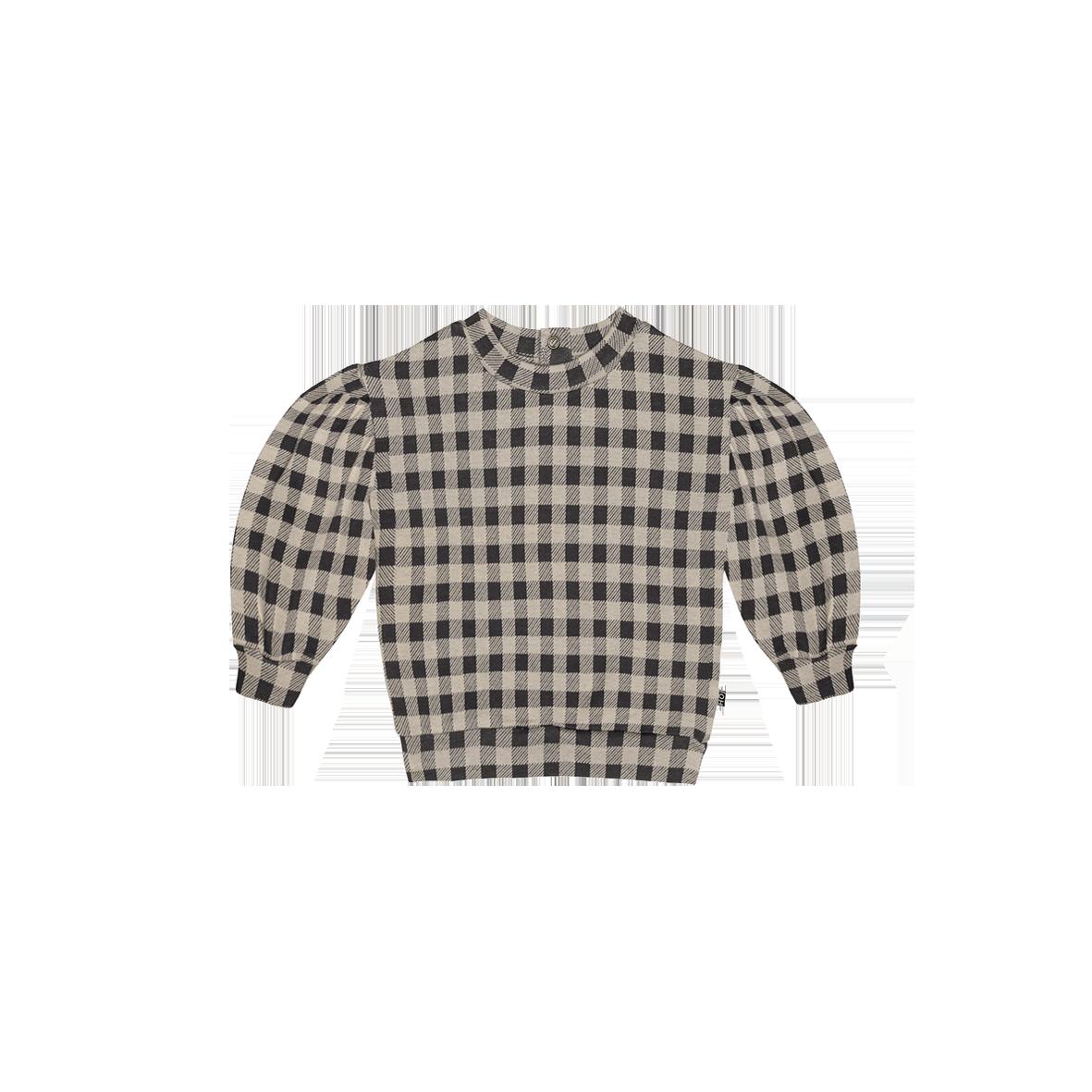 Balloon Sweater Charcoal Vichy