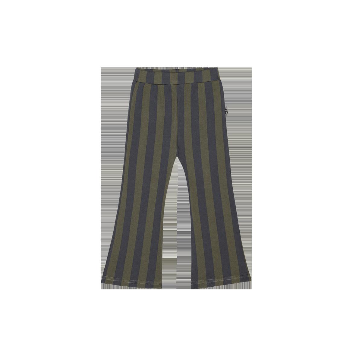 Flared Pants Moss & Blue stripes