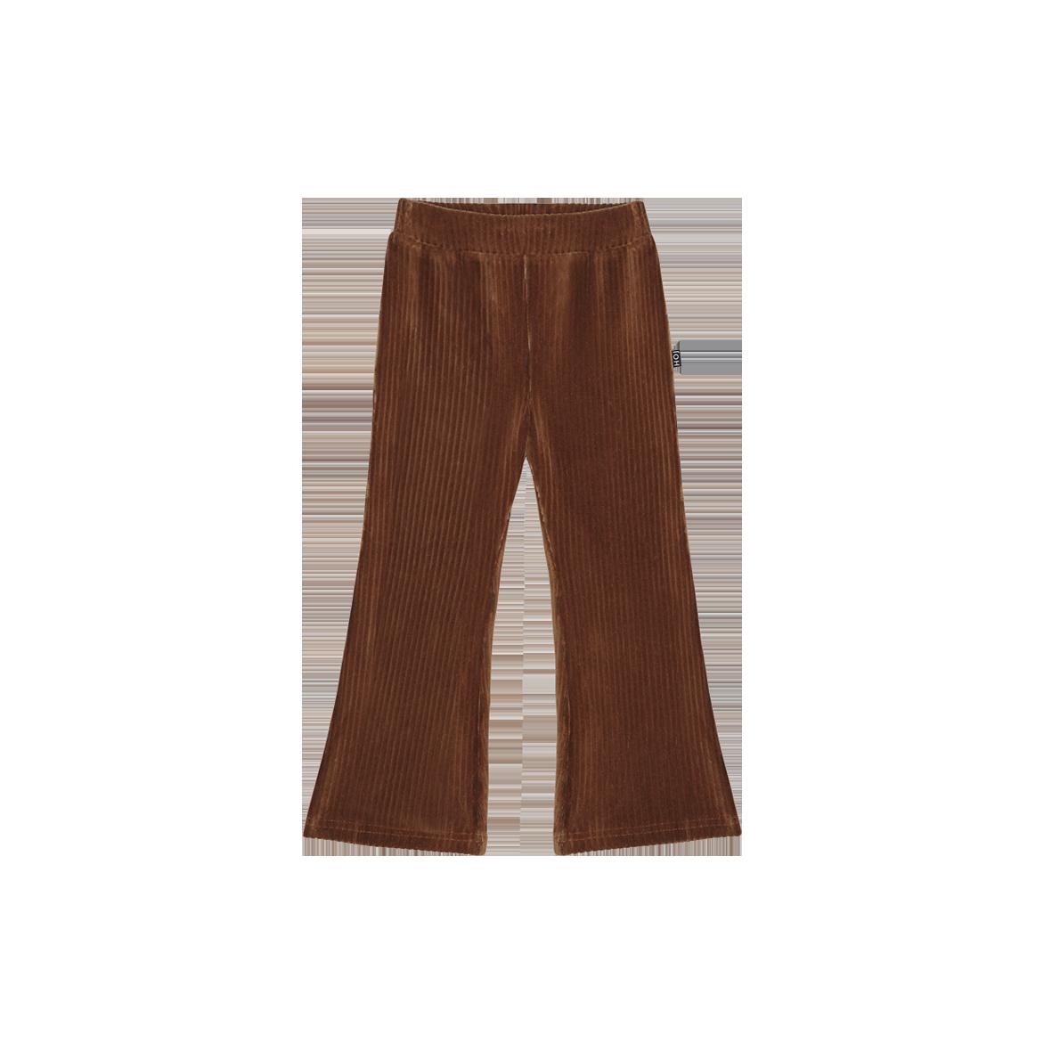 Flared Pants Ginger Bread Rib Velvet