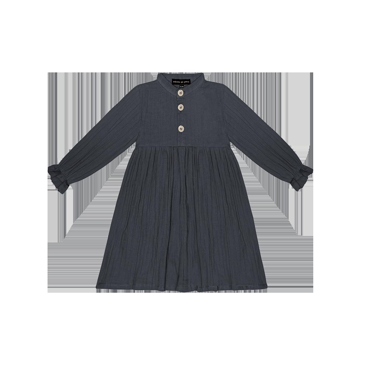 High Waist Dress Vintage Blue