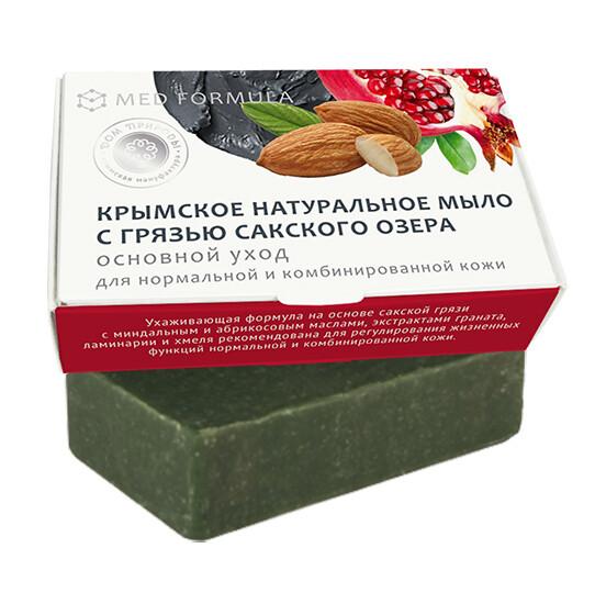 Крымское натуральное мыло грязевое MED formula «Основной уход», Дом Природы