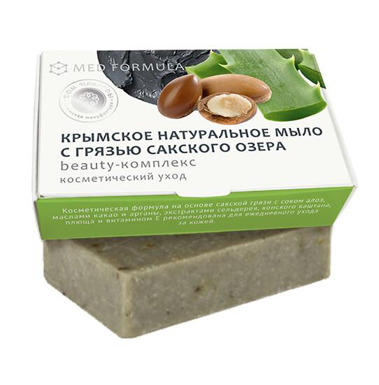 Крымское натуральное мыло грязевое MED formula «Beauty-комплекс», Дом Природы