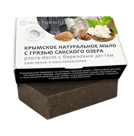 Крымское натуральное мыло грязевое MED formula «Увлажнение и защита», Дом Природы